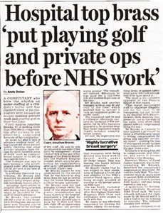 NHS Consultant Whistleblower