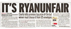 Ryanair Lottery Concerns
