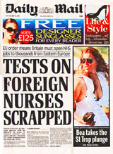 NHS- EU Nurses skip checks