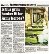 Army Heroes Housed In Car Park