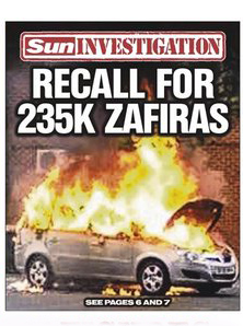 Vauxhall Car Fire Investigation