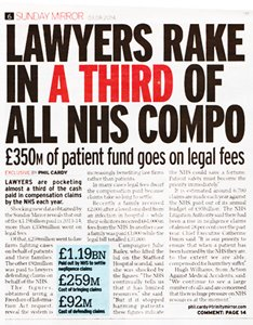 Lawyers Bleeding NHS Dry